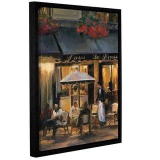 ArtWall Marilyn Hageman's La Brasserie 2, Gallery Wrapped Floater-framed Canvas