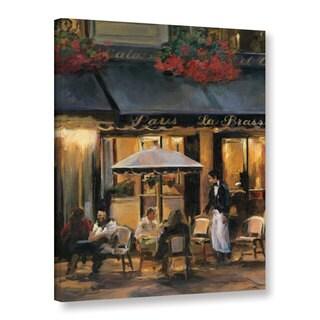 ArtWall Marilyn Hageman's 'La Brasserie 2' Gallery Wrapped Canvas - Brown