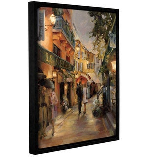 ArtWall Marilyn Hageman 'Evening in Paris' Gallery Wrapped Floater-frame Canvas