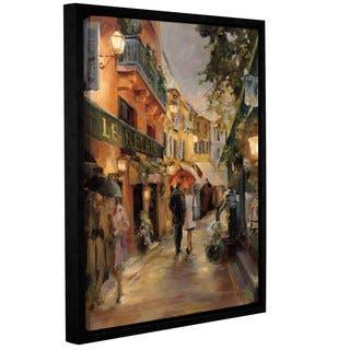ArtWall Marilyn Hageman 'Evening in Paris' Floater-frame Canvas