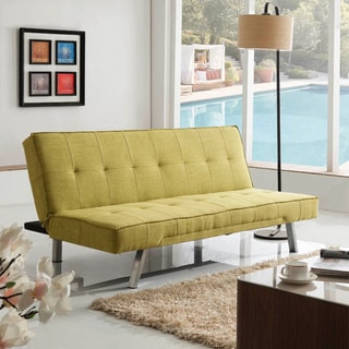 Corvus Kiwi Green Fabric Folds to a Bed Sofa