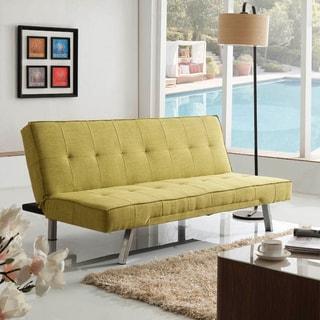 Corvus Kiwi Green Fabric Futon Sleeper Sofa