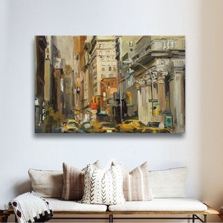 ArtWall Marilyn Hageman's Union Square NY, Gallery Wrapped Canvas