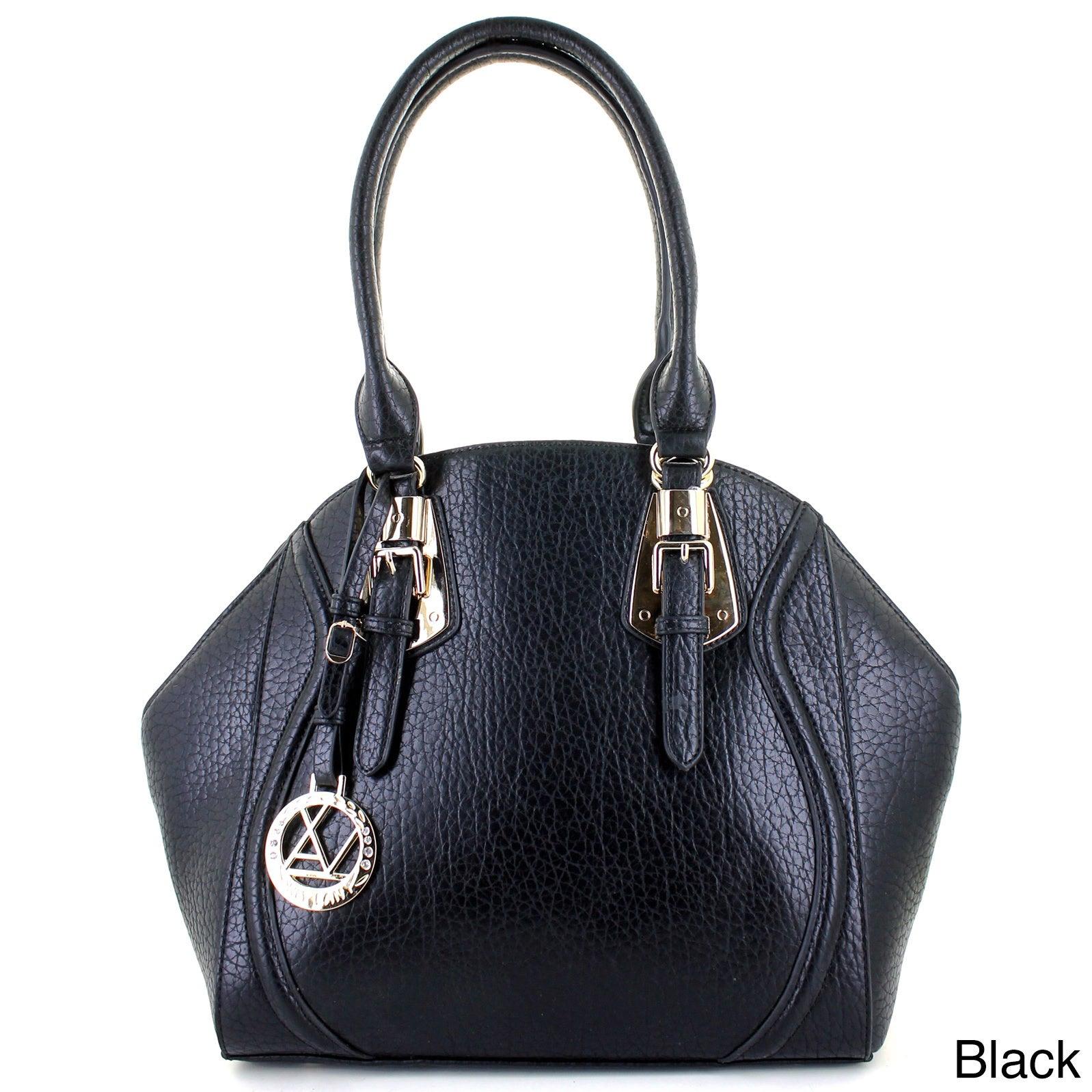 Lany Eleganza Satchel Handbag (Black), Women's (leather)