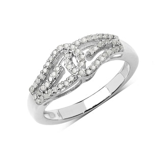 Olivia Leone Sterling Silver 1/3ct TGW White Diamond Ring (I-J, I2-I3)