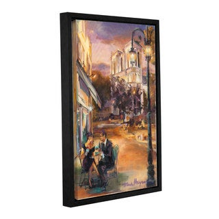 ArtWall Marilyn Hageman's Twilight Time In Paris, Gallery Wrapped Floater-framed Canvas