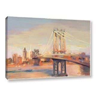 ArtWall Marilyn Hageman's Manhattan Bridge, Gallery Wrapped Canvas