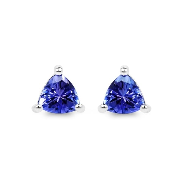 Malaika 14k White Gold 1/2ct TGW Tanzanite 3-prong Earrings