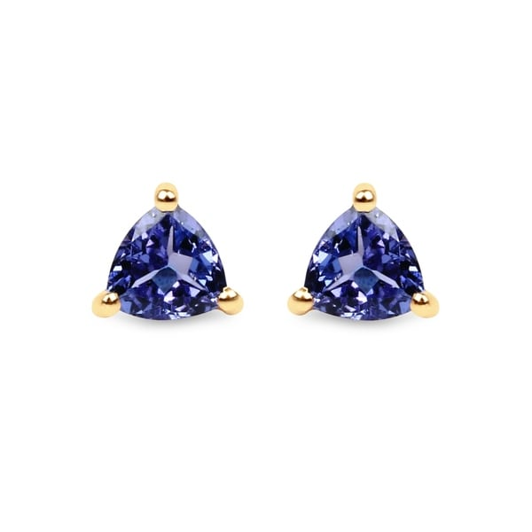 Malaika 14k Yellow Gold 1 2ct Tgw Tanzanite Stud Earrings