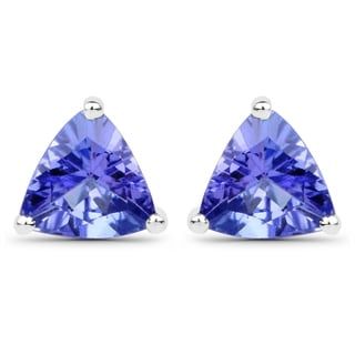Malaika 14k White Gold 7/8ct TGW Tanzanite Earrings