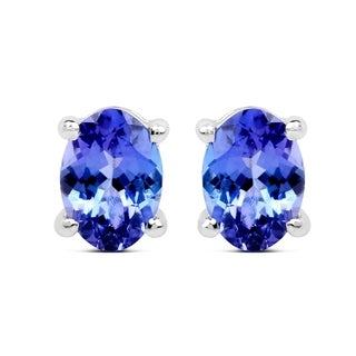 Malaika 14k White Gold 2ct TGW Tanzanite Earrings