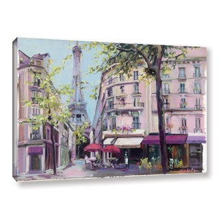ArtWall Marilyn Hageman's 'Springtime In Paris' Gallery Wrapped Canvas