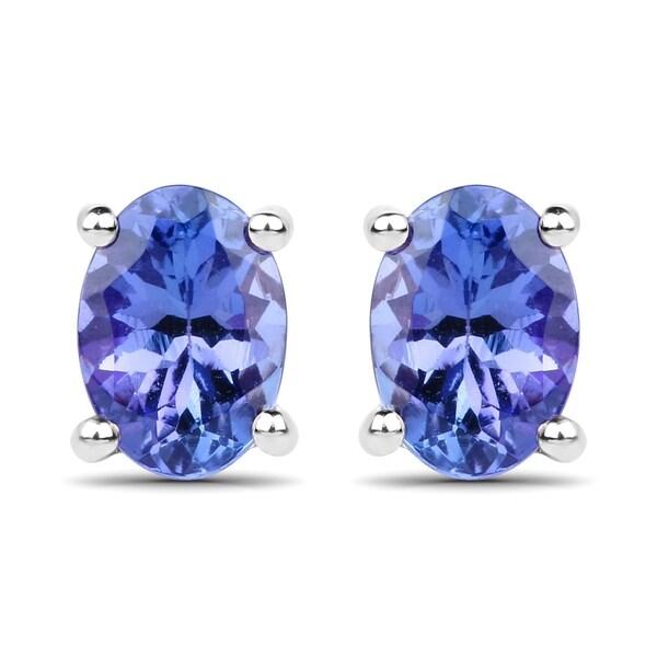Malaika 14k White Gold 1 5ct Tgw Tanzanite Earrings