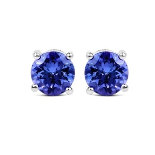 Malaika 14k White Gold 1 3/5ct TGW Tanzanite Earrings