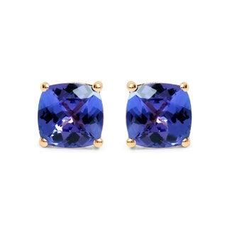 Malaika 14k Yellow Gold 1 3/4ct TGW Tanzanite Earrings