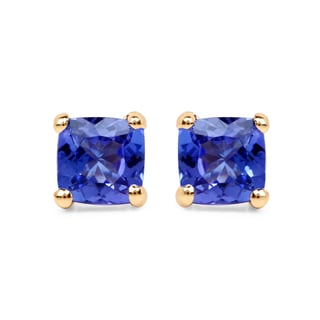 Malaika 14k Yellow Gold 3/5ct TGW Tanzanite Earrings