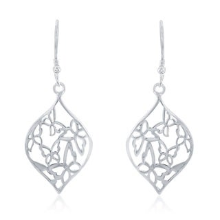La Preciosa Sterling Silver Lightweight Butterfly Dangle Earrings