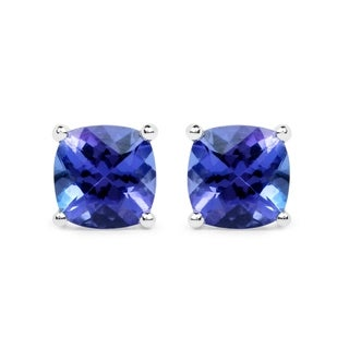 Malaika 14k White Gold 1 3/4ct TGW Tanzanite Earrings