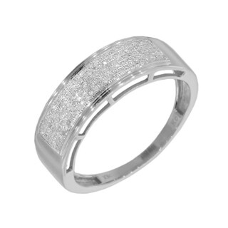 14k White Gold Men's 1/3ct TDW Diamond Ring