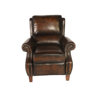 Lazzaro Leather Prato Black and Tan Recliner