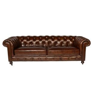 Lazzaro Leather Senator Snap Sofa