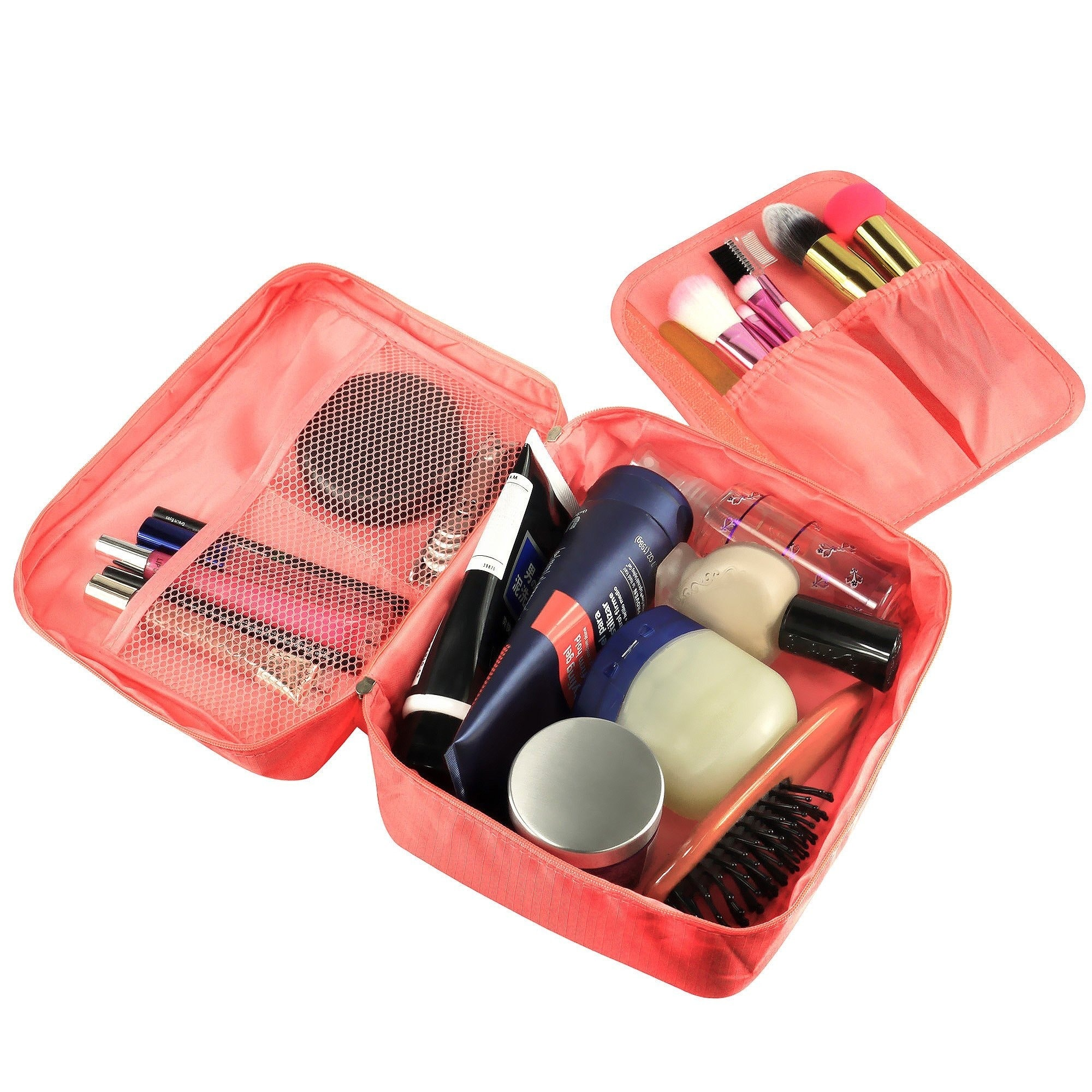 Zodaca Women Coral Travel Cosmetic Bag Makeup Case Toilet...