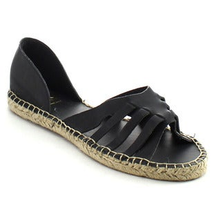 FAHRENHEIT LEANNE-05 Women's Flat Espadrille Sandals
