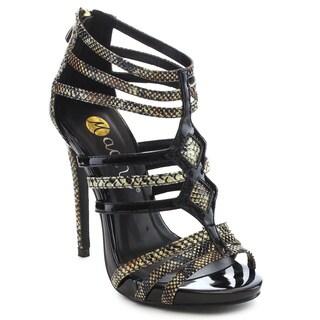 Beston FA47 Women's Gladiator Caged Stiletto Heels