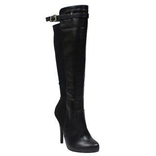 Beston DA52 Woman's Heeled Knee High Boots