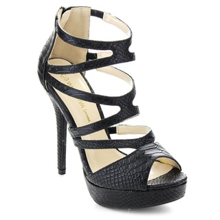 WILD DIVA SONNY-146 Women's Peep Toe Platform Heels