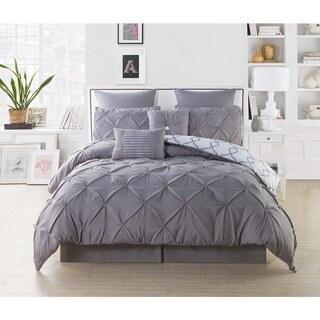 Reversible Pintuck Oversized 8-piece Comforter Set