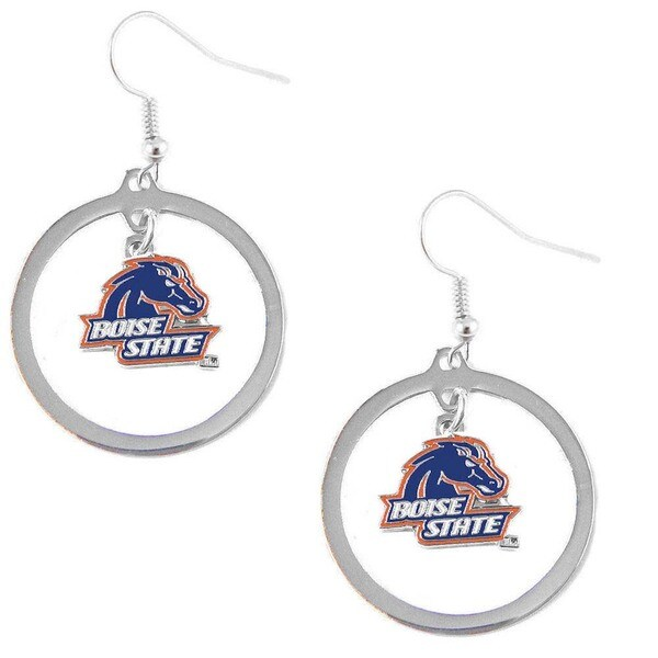 NCAA Charm Boise State Broncos Hoop Logo Earring Set