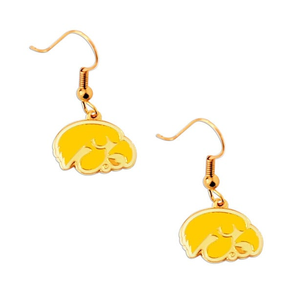 NCAA Sports Team Charm Gift Iowa Hawkeyes Dangle Earring Set