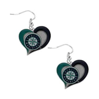 MLB Seattle Mariners Swirl Heart Team Logo Dangle Earrings|https://ak1.ostkcdn.com/images/products/11050668/P18062706.jpg?impolicy=medium