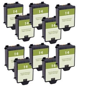 10PK C5011AN HP 14 Black Compatible Ink Cartridge For HP CP1160 Officejet D135 D155 7100's HP Digital Copier 610 ( Pack of 10)