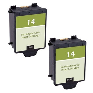 2-pack C5011AN HP 14 Black Compatible Ink Cartridge for HP CP1160 Officejet D135 D155 7100's HP Digital Copier 610 (Pack of 2)