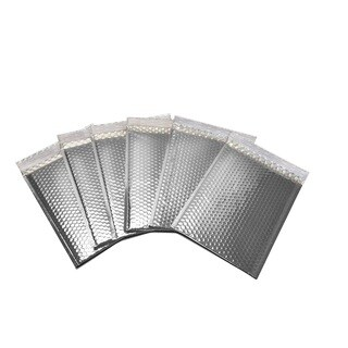 2000-piece Silver Metallic Bubble Mailer Envelope Bags (7 inches wide x 6.75 inches long)