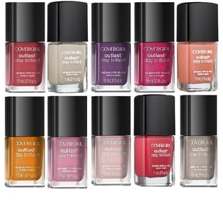 CoverGirl Outlast Stay Brilliant Nail Gloss Color Polish 10-piece Collection