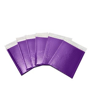 250-piece Purple Metallic Glamour Bubble Mailers Envelope Bags (7.5 inches wide x 11 inches long)