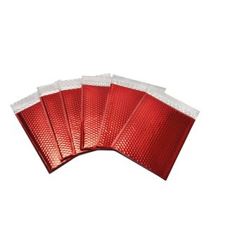 500-piece Red Metallic Bubble Mailer Envelope Bags (9 inches wide x 11.5 inches long)