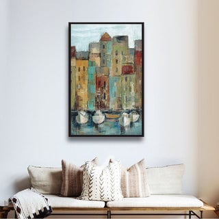 ArtWall Silvia Vassileva's Old Town Port 1, Gallery Wrapped Floater-framed Canvas