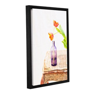 ArtWall Elena Ray 'Tulips' Gallery-wrapped Floater-framed Canvas