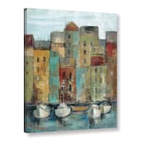 ArtWall Silvia Vassileva's Old Town Port 1, Gallery Wrapped Canvas