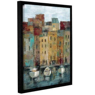 ArtWall Silvia Vassileva's Old Town Port 2, Gallery Wrapped Floater-framed Canvas