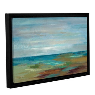 ArtWall Silvia Vassileva's Wispy Clouds, Gallery Wrapped Floater-framed Canvas