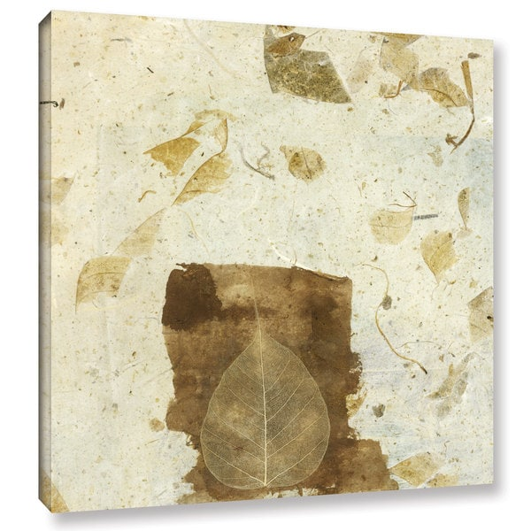 ArtWall Elena Ray 'Wabi-Sabi Bodhi Leaf Collage 1' Gallery-wrapped Canvas