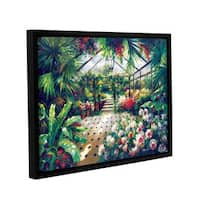 ArtWall 0 Axiano's Tropical Conservatory, Gallery Wrapped Floater-framed Canvas