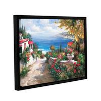 ArtWall 0 Axiano's Costal Air, Gallery Wrapped Floater-framed Canvas