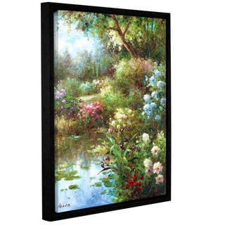 ArtWall 0 Axiano's Waters Edge, Gallery Wrapped Floater-framed Canvas