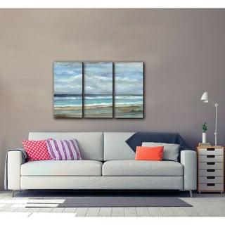 ArtWall Silvia Vassileva's Seashore, 3 Piece Gallery Wrapped Canvas Set